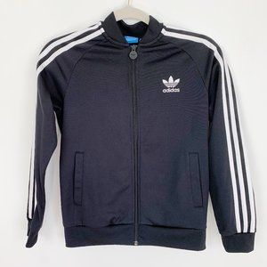 Boy's Adidas Tricot Jacket in Black and White Med.